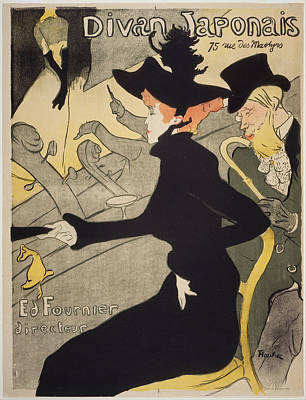 Painting - Divan Japonais by Henri De Toulouse-Lautrec