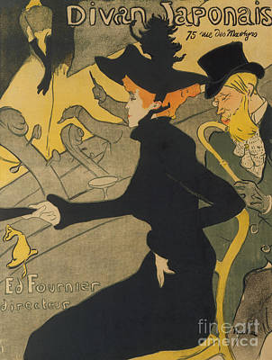 Night Life Painting - Divan Japonais by Henri de Toulouse-Lautrec