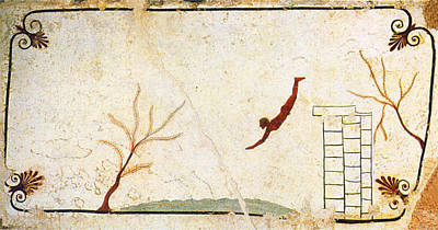Pythagorean Wall Art - Painting - Diver Two by Troy Caperton