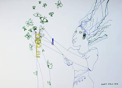 Drawing - Divine Feelings - Hope by Gloria Ssali