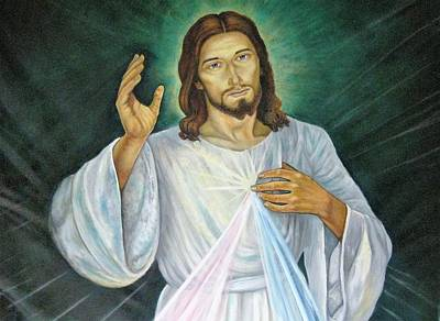 Painting - Divine Mercy by Patrick RANKIN
