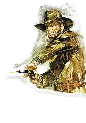 Scary Digital Art - Django 1966 by Fine Artist