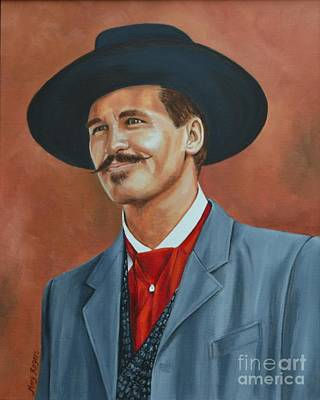 Val Kilmer Wall Art - Painting - Doc Holiday by Mary Rogers