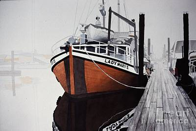 Painting - Dockside by Frank Townsley