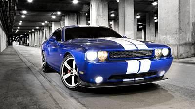 Challenger Digital Art - Dodge Challenger Srt                    by F S