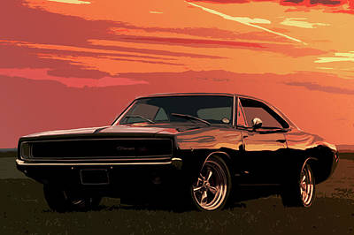 Photograph - Dodge Charger - 1969 by Andrea Mazzocchetti