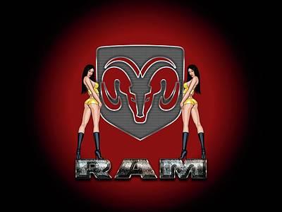 Photograph - Dodge Ram Logo by Carlos Diaz