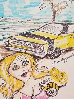 Street Rod Drawing - Dodge Superbee by Geraldine Myszenski