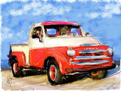 Dodge Truck Print by Russell Pierce