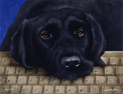 Wall Art - Painting - Dog Byte... by Will Bullas