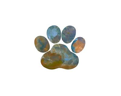 Painting - Dog Paw Print by Steph J Marten