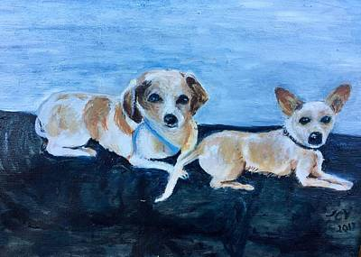 Painting - Dogs Resting by Lucille Valentino