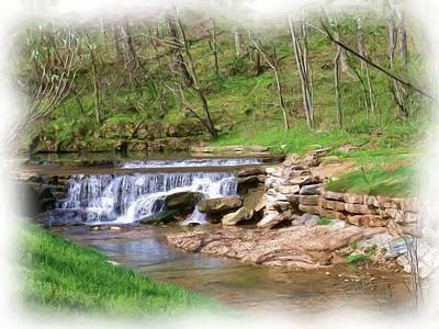 Dogwood Canyon Waterfall 2 Art Print