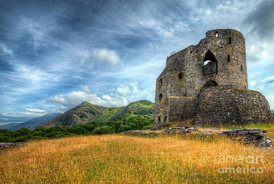 Abandoned Digital Art - Dolbadarn Castle by Adrian Evans