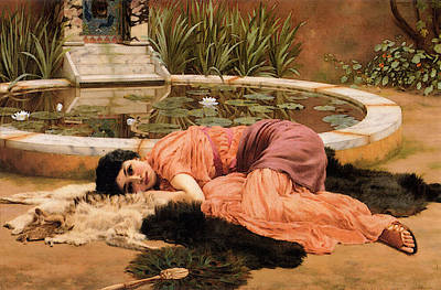 Dolce Far Niente Art Print by John William Godward