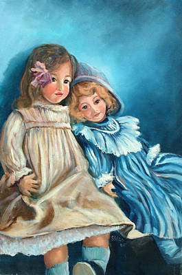 Dolls At Rest Art Print by Sally Seago