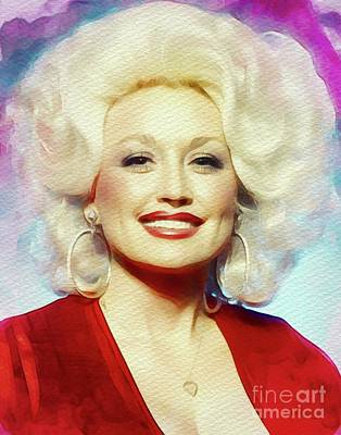 Music Paintings - Dolly Parton, Music Legend by Esoterica Art Agency
