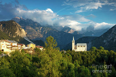 Photograph - Dolomites Church by Brian Jannsen