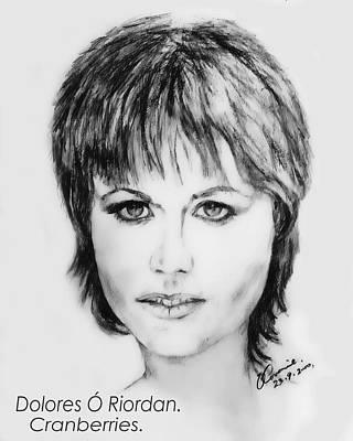 U2 Drawing - Dolores O Riordan by Liam O Conaire