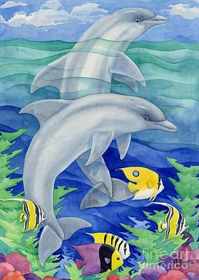 Dolphin Fish Painting - Dolphin Reef by Paul Brent