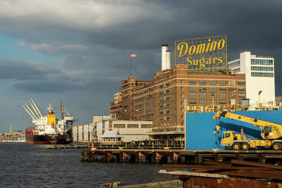 Photograph - Domino Sugars Sign by Brian Wallace