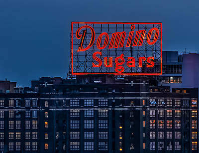 Photograph - Domino Sugars Sign by Wayne King