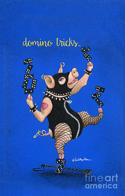 Painting - Domino Tricks... by Will Bullas