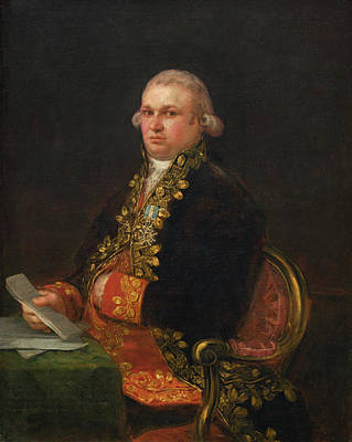Object Painting - Don Antonio Noriega by Francisco Goya