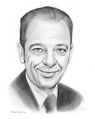 Don Knotts Drawing - Don Knotts by Greg Joens