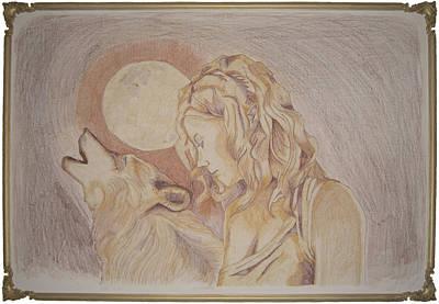 Quadri Painting - Donna Lupo by Orazio Scilimpa