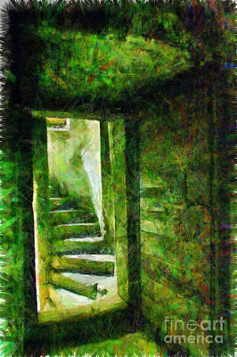 Digital Art - Door And Ladder by Giuseppe Cocco