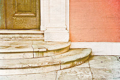 Upscale Photograph - Door Steps by Tom Gowanlock
