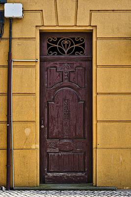 Old Door Photograph - Door With No Number by Marco Oliveira
