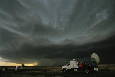 Doppler On Wheels Radar Trucks Wait Art Print by Carsten Peter