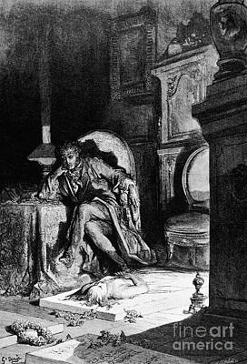 Drawing - The Raven by Gustave Dore