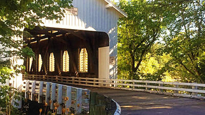 Photograph - Dorena Covered Bridge by Katie Wing Vigil