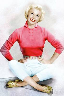 Musicians Royalty Free Images - Doris Day, Vintage Actress Royalty-Free Image by Esoterica Art Agency