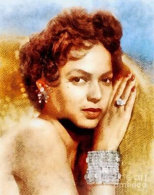 Musicians Royalty Free Images - Dorothy Dandridge, Vintage Hollywood Legend Royalty-Free Image by John Springfield