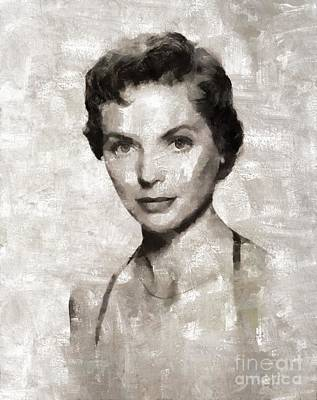 Dorothy Mcguire Vintage Hollywood Actress Art Print by Mary Bassett