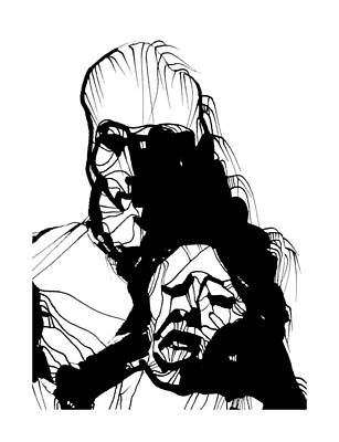 Drawing - Dos Cabezas by Daniel Schubarth