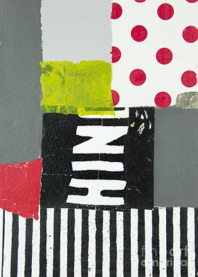 Mixed Media - Dots And Stripes by Elena Nosyreva