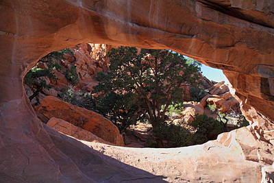 Double O Arch Photograph - Double 0 Arch In Arches National Park by Pierre Leclerc Photography