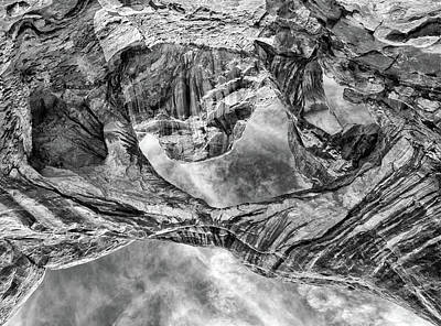 Photograph - Double Arch Perspective In Black And White  by Art Cole