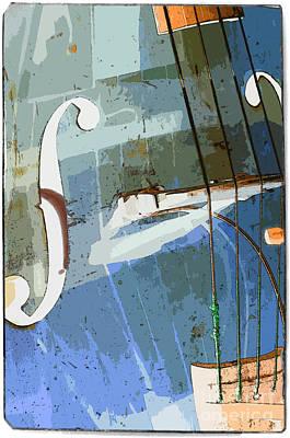 Double Bass Art Print by Konstantin Sevostyanov