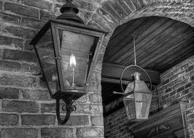 Gas Lamp Photograph - Double Gas Lamps In The French Quarter by VJ Lair
