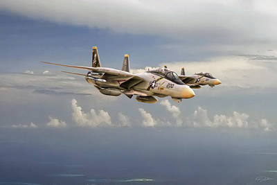 F-14 Digital Art - Double Trouble by Peter Chilelli