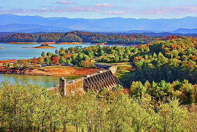 Photograph - Douglas Dam And Reservoir 3 by HH Photography of Florida