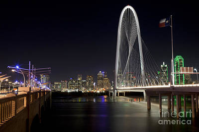 Metroplex Office Photograph - Downtown Dallas, Texas At Night by Anthony Totah