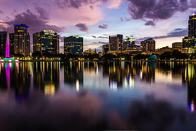 Downtown Orlando Art Print