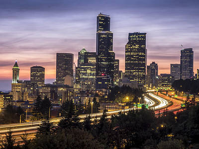 Photograph - Downtown Seattle by Kyle Wasielewski